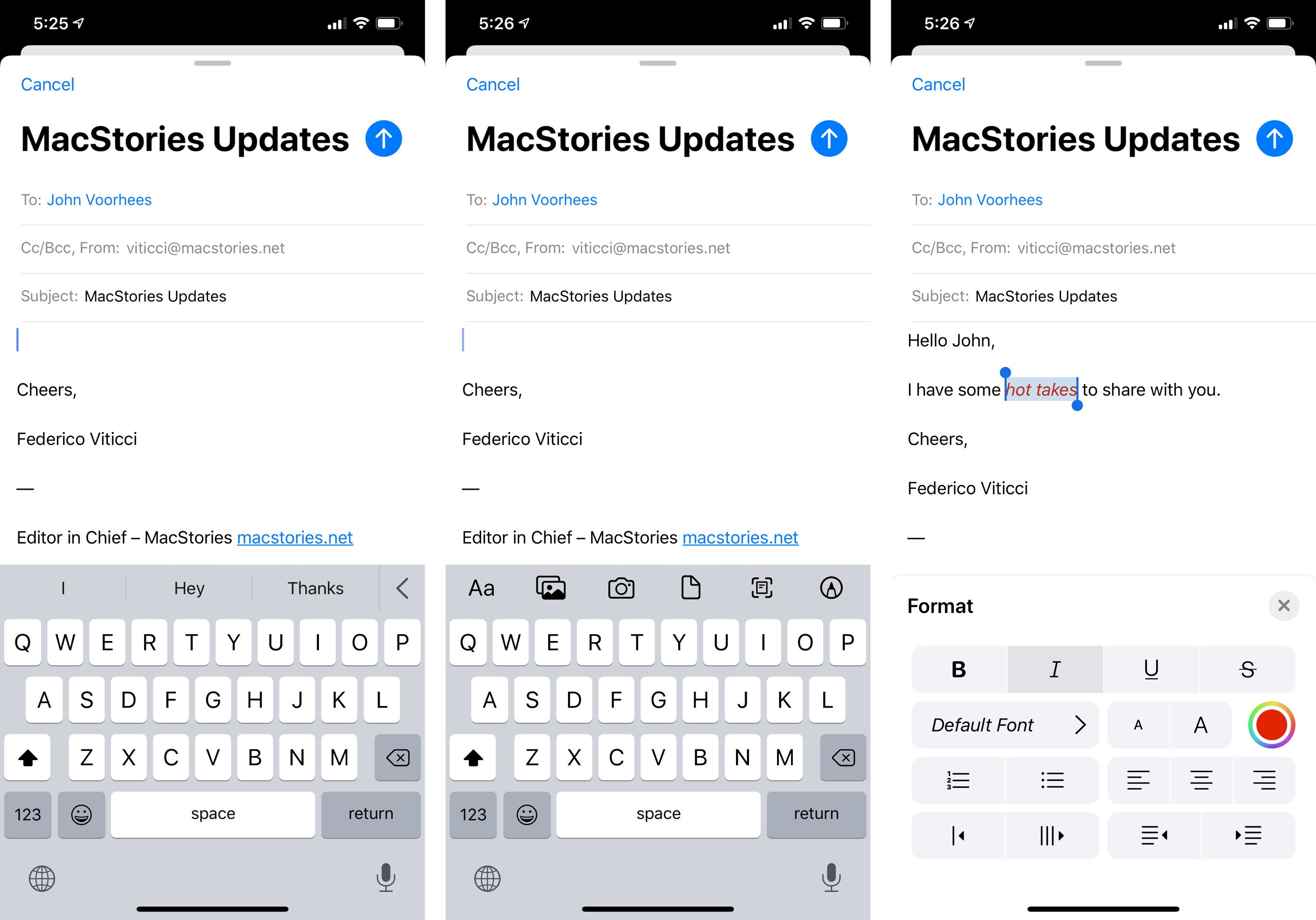 The new toolbar and formatting controls in iOS 13.