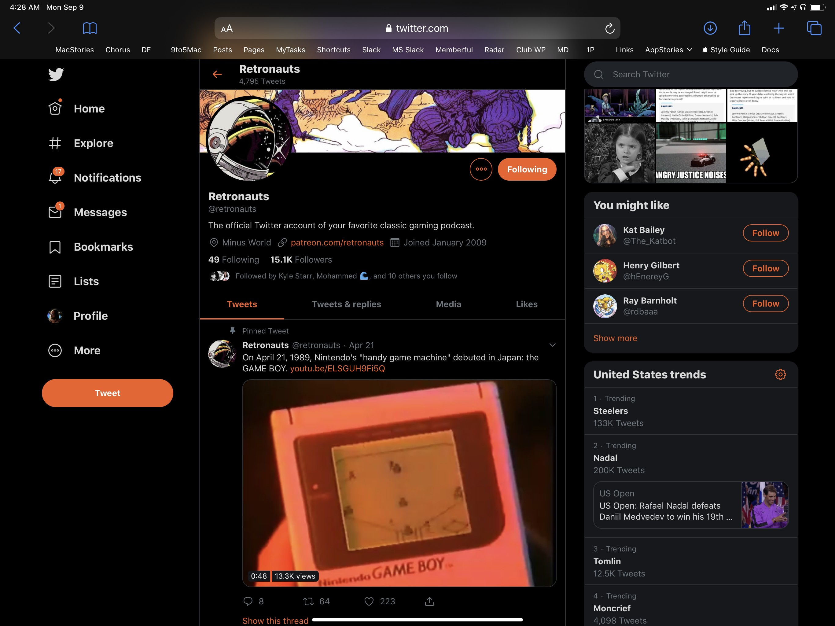 Twitter in desktop Safari is better than Twitter's native iPad app.