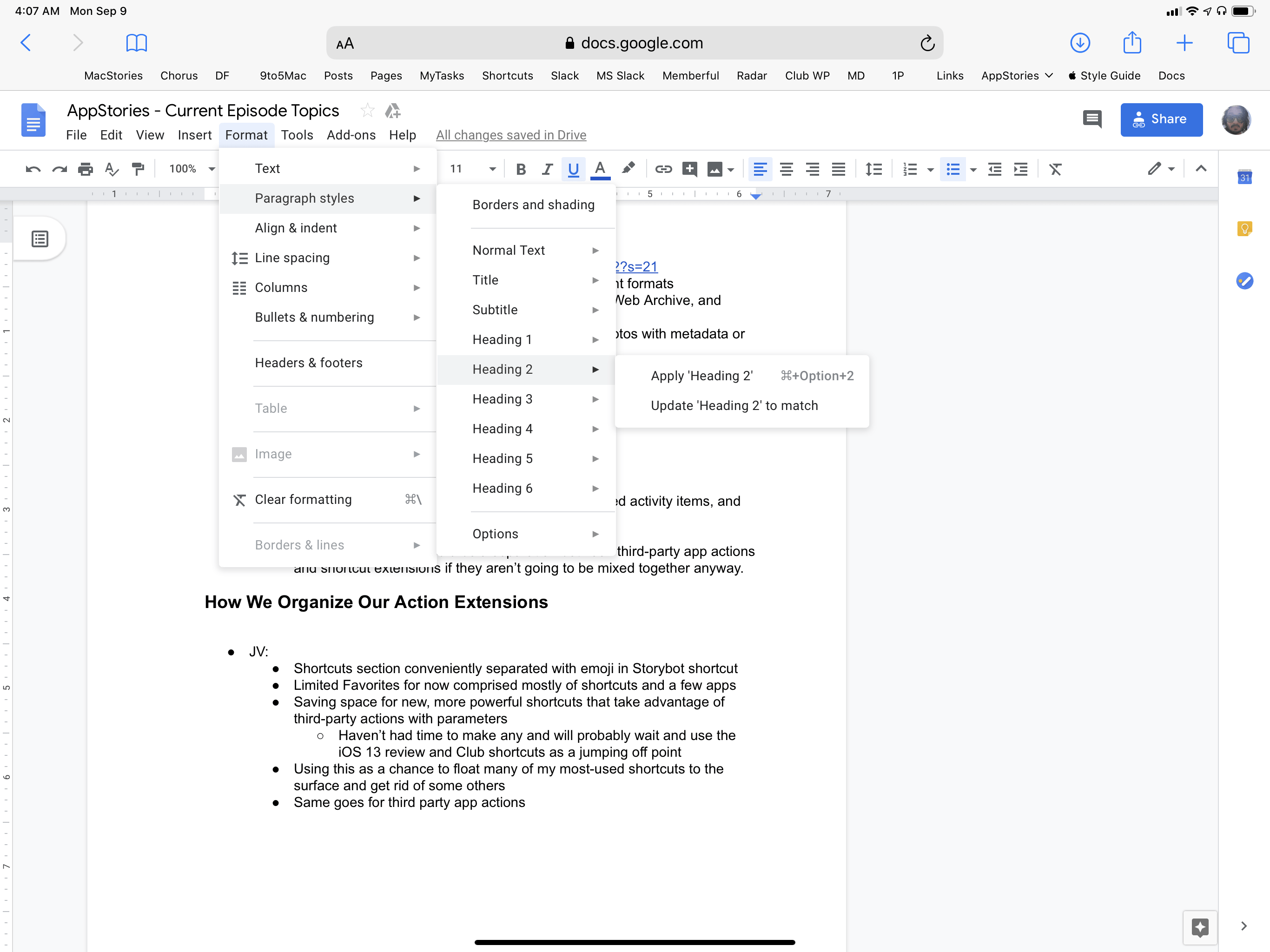 It's incredible to think that Google Docs' web app effectively didn't work at all on iPad with iOS 12, and now it's just as capable as its desktop version.